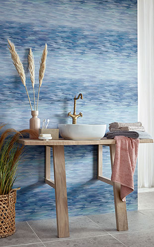 1838 Wallcoverings / WILLOW / Prism Blue Dusk 2008-151-02