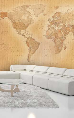 1 Wall / XXL Wall Mural / OLD MAP