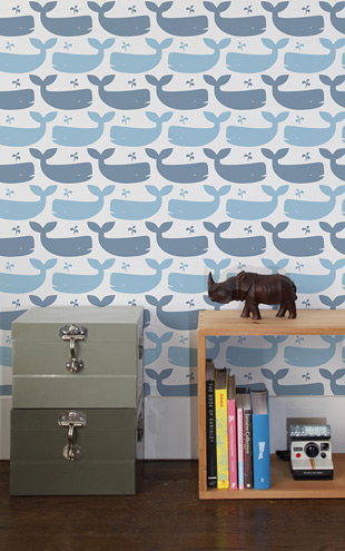 Aimee Wilder / DIORAMA Collection Whales Turquoise