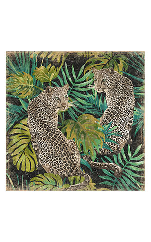 【WALL ART】ALFONZ / LEOPARDS JUNGLE ALF00455DC (120x120cm)