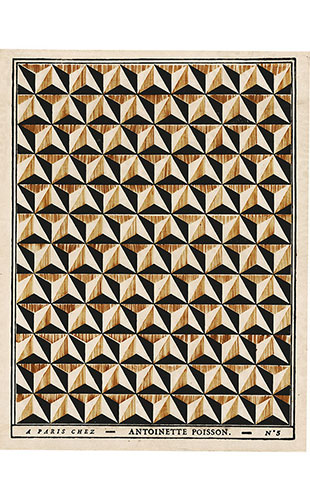 Antoinette Poisson / Diamond points pattern D5a