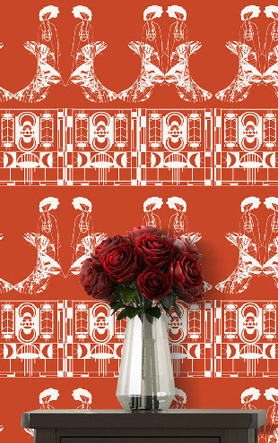 ATADesigns Enchanting Lilly / Foxy Red