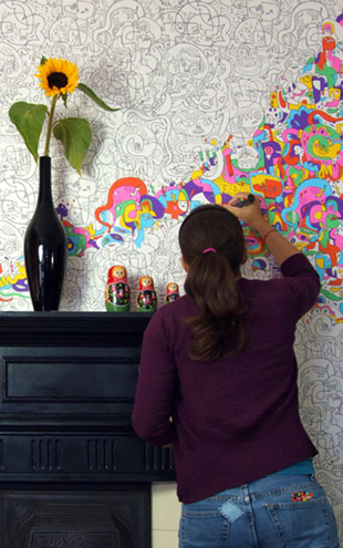 Burgerplex Burger Mash Colour-In Wallpaper /  5561