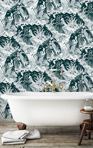 Dupenny MERMAIDS WALLPAPER / SEAWEED