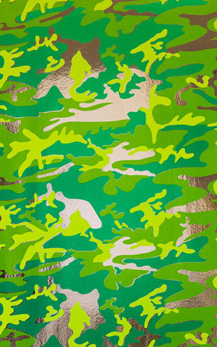 Andy Warhol  Camouflage / Mossy Field On Chrome