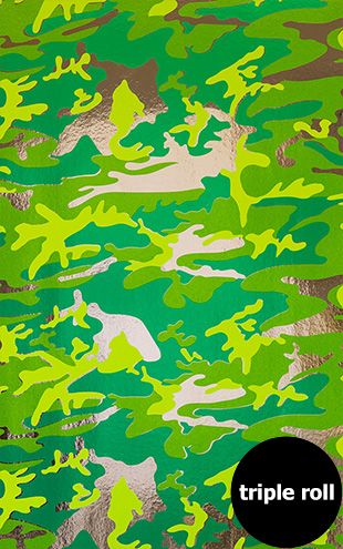 Andy Warhol / CAMOUFLAGE / Mossy Field on Chrome Mylar (triple roll)