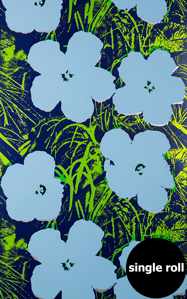 Andy Warhol / FLOWERS / Carolina on Silver Mylar (single roll)