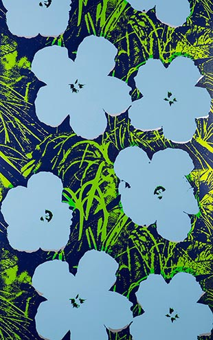 Andy Warhol  Flowers / Carolina On Silver