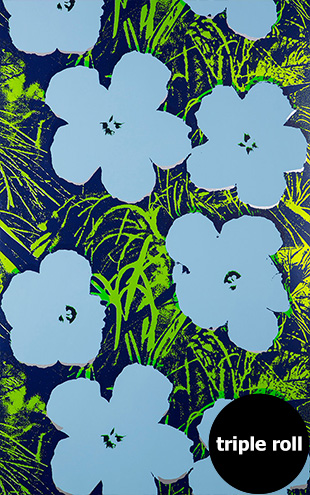 Andy Warhol / FLOWERS / Carolina on Silver Mylar (triple roll)