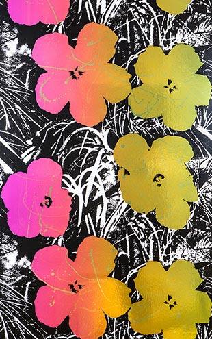 Andy Warhol  Flowers / Golden Shower On Chrome