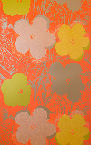 Andy Warhol  Flowers / Miami Spice On Champagne