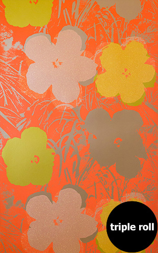 Andy Warhol / FLOWERS / Miami Spice on Champagne Mylar (triple roll)