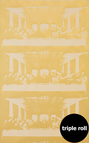 Andy Warhol / THE LAST SUPPER / Jesus Toast on Linen Clay Coated Paper (triple roll)