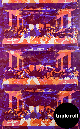 Andy Warhol / THE LAST SUPPER / Lenten Apricot on Blush Clay Coated Paper (triple roll)