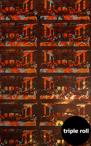 Andy Warhol / THE LAST SUPPER / Orchard on Bright Gold Mylar (triple roll)