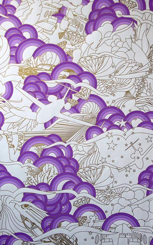 Flavor Paper LUXURY / Lavender On Mica Clay Coated paper