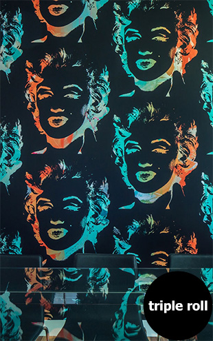 Andy Warhol / MARILYN MONOPRINT / Black on Chrome Mylar (triple roll)