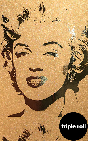 Andy Warhol / MARILYN MONOPRINT / Gold Diamond Dust on Bright Gold Mylar (triple roll)