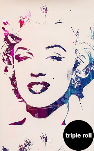 Andy Warhol / MARILYN MONOPRINT / White on Chrome Mylar (triple roll)