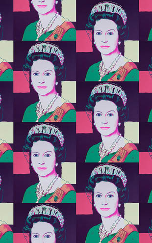 Andy Warhol  Queen Elizabeth / Deep Purple