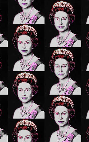 Andy Warhol  Queen Elizabeth / Neon Gray