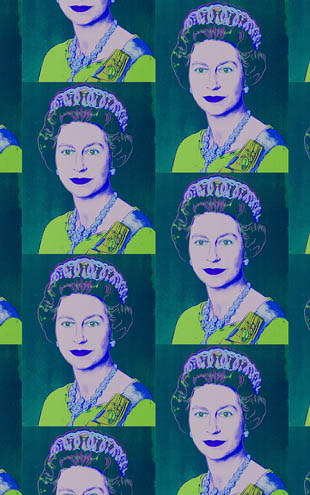 Andy Warhol  Queen Elizabeth / Teal