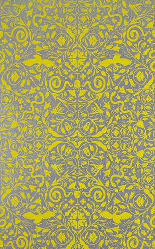 Flavor Paper SECRET GARDEN / Lemon On Silver Mylar