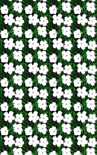 Andy Warhol  Small Flowers / Blanc