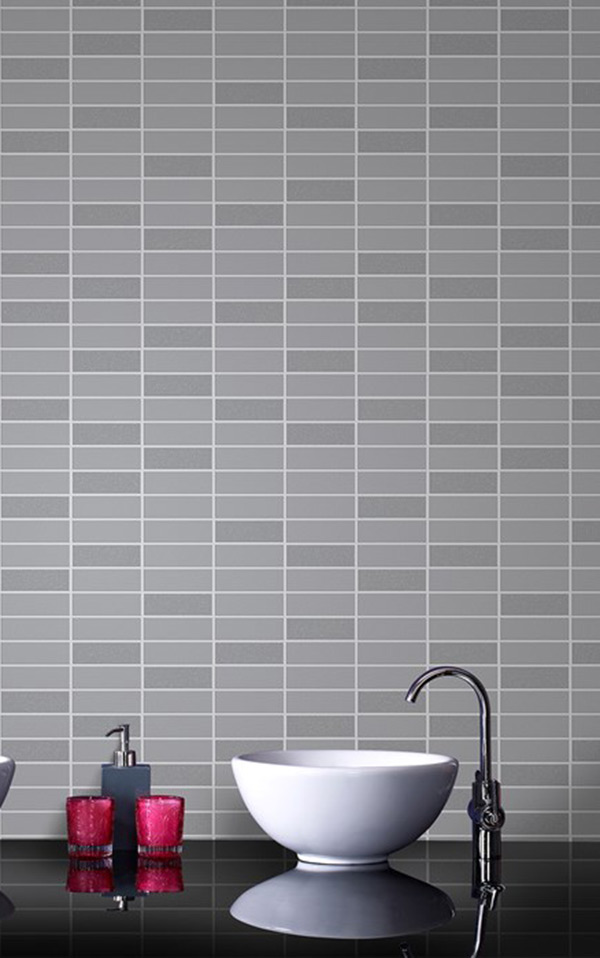 Graham & Brown / Rimini Tile Grey Shimmer 33-066