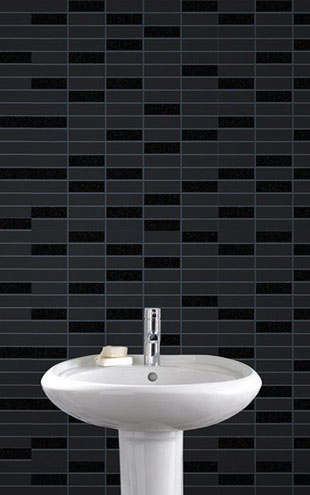 Graham & Brown / Rimini Tile Black Sparkle 33-067