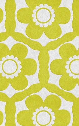 Graham & Brown / Barbara Hulanicki Funky Flora 51-014 Lime & Ice