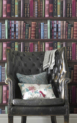 Graham & Brown / Book Shelf Wallpaper / 101689