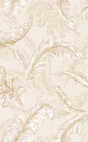 Graham & Brown / GLITTERATI / Gilded Feather 32-946 Cream / Gold