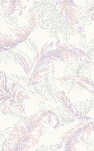 Graham & Brown / GLITTERATI / Gilded Feather 32-948 Pink / Lilac