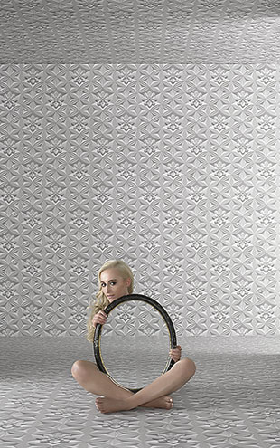 Graham & Brown / Illusions by Marcel Wanders Wall Flower Limestone (32-753)