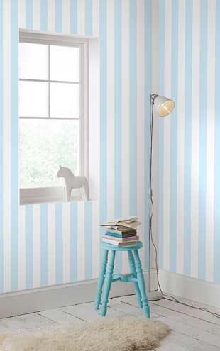 Graham & Brown / Kids to teen Collection Pastel Blue Stripe 100097