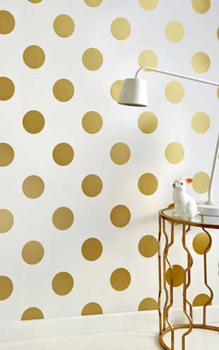 Graham & Brown / Kids to teen Collection Dotty Gold 100105