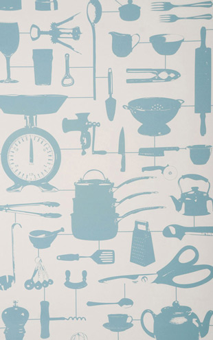 The Graduate Collection / Airfix Kitchen Wallpaper Duck Egg