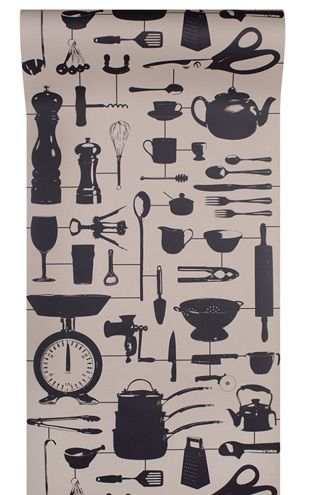 The Graduate Collection / Airfix Kitchen Wallpaper Taupe