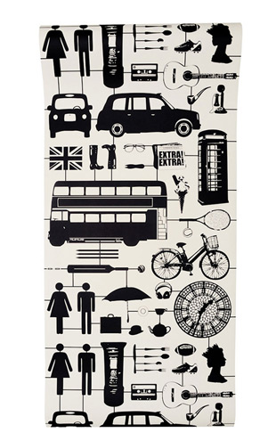 The Graduate Collection / Airfix London Wallpaper Black