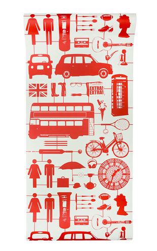 The Graduate Collection / Airfix London Wallpaper Red