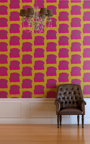 The Graduate Collection / Bulldog Wallpaper Pink