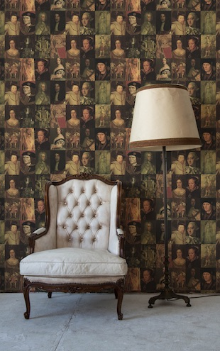 The Graduate Collection / Kings and Queens Wallpaper in Sepia