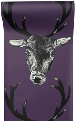 The Graduate Collection / Stag Wallpaper Plum