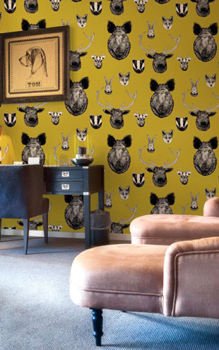 Graduate Collection / Vestige Wallpaper Mustard
