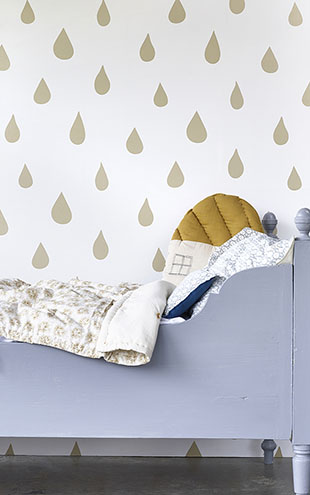 HIBOU HOME / Raindrops HH01102 Gold/White