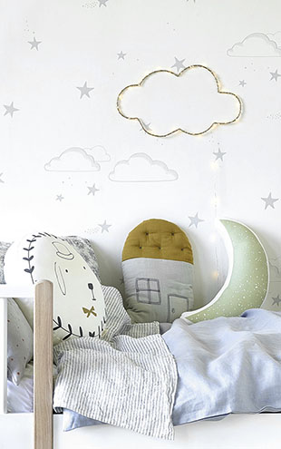 HIBOU HOME / イブゥ・ホーム Starry Sky HH01202 (Silver/White)