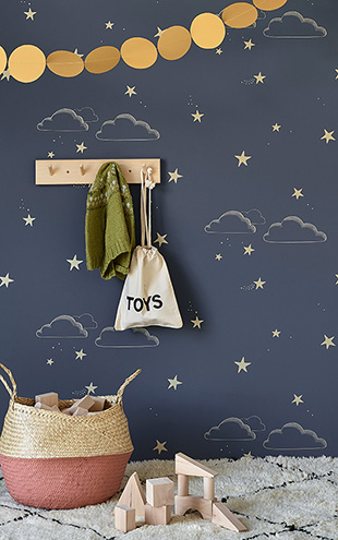HIBOU HOME / Starry Sky HH01203 (indigo/Gold)
