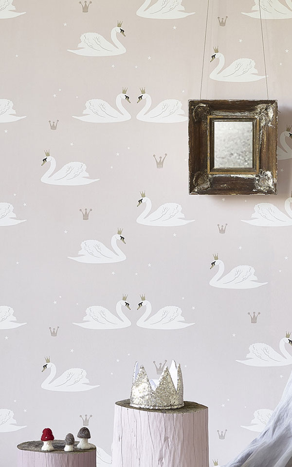 HIBOU HOME / Swans HH01301 (Pale Rose)