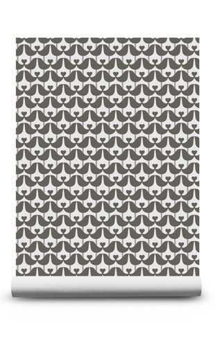 isak Lovebird Wallpaper Charcoal